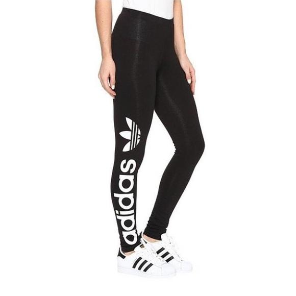 4f9e6d2df47 adidas Pants   Nwt Linear Leggings Black With Trefoil   Poshmark